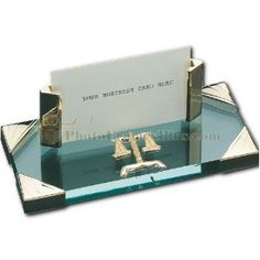 Lawyer Business Card Holder (Glass)