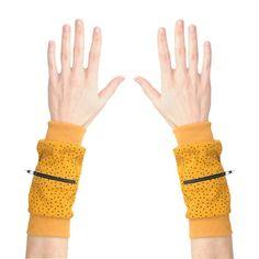 Wrist Zips  Wrist Wallet  Mustard Seeds by imaginaryanimal on Etsy