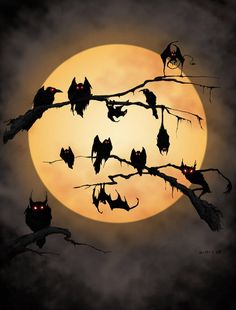 Image uploaded by ༄𝕾𝖆𝖓𝖉𝖗𝖆༄. Find images and videos about dark, moon and Halloween on We Heart It - the app to get lost in what you love. Samhain Halloween, Fete Halloween, Halloween Pictures, Halloween Cards, Holidays Halloween, Vintage Halloween, Happy Halloween, Halloween Decorations, Halloween Night