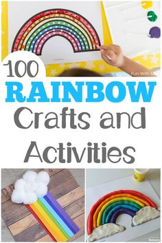 Looking for some awesome spring crafts? There are 100 rainbow activities for kids here to share this spring! via @lookwerelearn