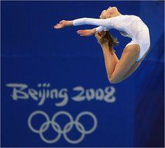 Nastia Liukin winning silver on beam at the 2008 Olympics gymnast gymnastics Beijing USA