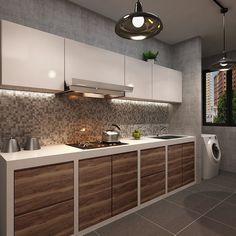 Dream small Kitchen Kitchen Room Design, Kitchen Dinning, Home Decor Kitchen, Kitchen And Bath, Kitchen Interior, Home Kitchens, Dining Room, Green Interior Design, Interior Design Singapore