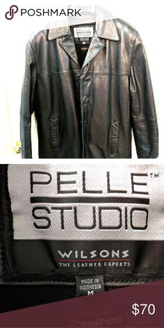 Black leather car coat Black leather coat, excellent condition with zipout Thinsulate liner Wilsons Leather Jackets & Coats