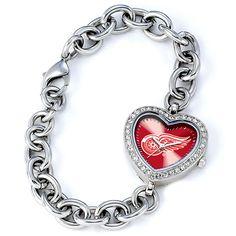 Detroit Red Wings Ladies Quartz Analog Heart Watch