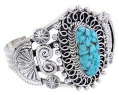 Navajo Turquoise Sterling Silver Bracelet Jewelry www.turquoisejewelry.com