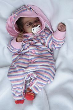 AA Ethnic Biracial Reborn Baby Girl 'Aurelia' by Elisa Marx