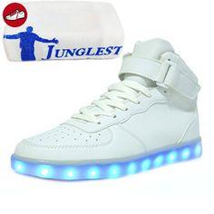 [Present:kleines Handtuch]Gold EU 30, Fl?¹gel Bunte Athletische Sportschuhe JUNGLEST® mit LED Sneakers Kinder Jungen Leucht