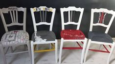 Painting the rattan, wicker or straw of a chair rnrnSource by damoduc Furniture Board, Deco Furniture, Painted Furniture, Rattan, Wicker, Chair Makeover, Paris, Folding Chair, Home Staging