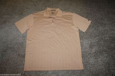 Nike Golf Tiger Woods Dri Fit Brown Polo Shirt XX Large