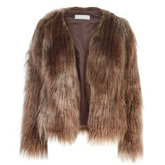Related Drea Jacket (6 830 UAH) ❤ liked on Polyvore featuring outerwear, jackets, brown jacket, fake fur jacket, brown cropped jacket, cropped jacket and faux fur jacket