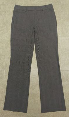 NWOT Women's New York & Company plaid Houndstooth Gray Pants sz 4 Tall or 32x34 #NewYorkCompany #DressPants