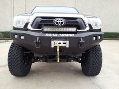 Recessed light pods for Rigid Square Dually / D2 Series Lights or Vision-X, fully welded shackle mounts front and back, winch mount to house up to a 9.5k non-integrated winch, 3/16-inch outer steel shell, 1/4-inch Internal mounting brackets and gussets, and a lifetime guarantee against breakage.