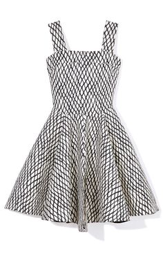 Sleeveless Lattice Print Dress by Marni Now Available on Moda Operandi