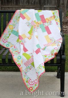 Hello Washi Quilt featuring Simply Sweet fabric from Riley Blake Designs #simplysweet #iloverileyblake