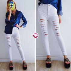 ULTIMO JEAN COOPER BLANCO $430 (antes $650) Elastizado tiro alto roturas  CAMISA JEAN $550 Talle M ULTIMAS 2!  NO VUELVE! Apurate!Efectivo y tarjeta Tienda Online http://ift.tt/2k7jS64 Local Belgrano: Echeverría 2578 CABA (días y horarios en bio/perfil) #followme #oyuelitostore #stylish #styles #fashion #model #fashionista #fashionpost #ootd #moda #clothing #instafashion #trendy #chic #girl #trends #outfitoftheday #selfie #showroom #loveit #look #lookbook #inspirationoftheday #modafemenina…