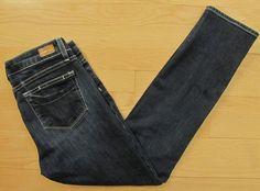 PAIGE Premium Denim Jeans 29 Skyline Ankle Peg Skinny Dark Wasilla Slim 27 in #PaigeDenim #SlimSkinny