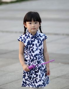 Kids Cheongsam Dress HZJ0013