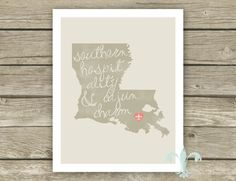 Cajun Charm // Digital Print // Typography Art // Printable Art // Louisiana Art // South // State Art. $5.00, via Etsy.