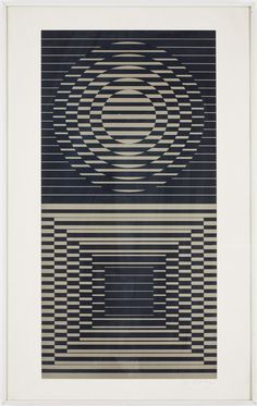 VASARELLY Victor Vasarely - French/Hungarian (1906-1997) - OP ART (optical art) started in 1963