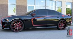 KC Trends - Showcase - 24 Asanti V Axis 601 custom color matched W/Nitto Invo tires on a 2012 Dodge Charger SRT/8.