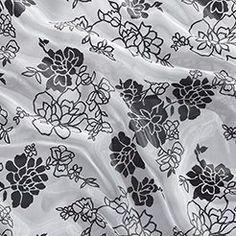 Charcoal Camellia Sheer Overlay