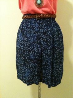 Floral High Waisted Shorts by DIYstylist on Etsy, $12.99