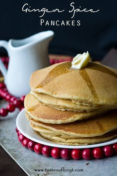 Ginger Spice Pancakes {Tastes of Lizzy  T}