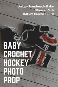 Adorable Crochet Creations for Everyone ! Crochet Outfits, Crochet Baby Clothes, Hockey Outfits, Unique Baby Shower Gifts, Philadelphia Flyers, Newborn Photography Props, My Etsy Shop, Etsy Seller, Fans