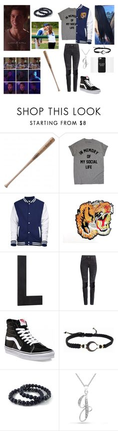 """""""Going to Jeff's game😍😭⚾️"""" by mackenna-1 ❤ liked on Polyvore featuring Louisville Slugger, Pottery Barn, H&M, Vans, mizuki and Bling Jewelry"""