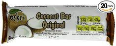 Oskri Coconut Bar, Original, Gluten Free, 1.9-Ounce Bars (Pack of 20): Amazon.com: Grocery & Gourmet Food