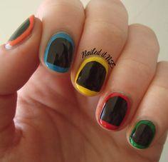 Easy basketball nail art for short nails nail art pinterest nail art for short nails guitar hero nails prinsesfo Choice Image