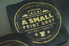 Metallic gold tests. #tumblr #screenprinting #shirts #asmallprintshop #denver #metallic #ink