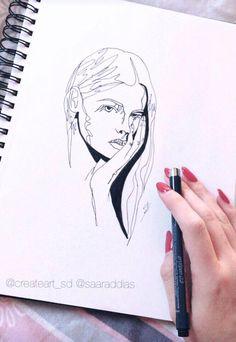 #woman #art #drawing #draw #myway #arte #kunst #love #instagram #girl #simples