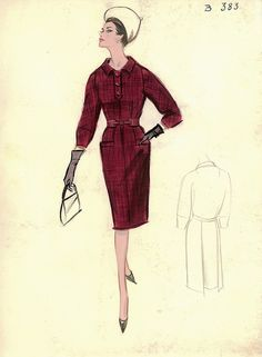 Dress by Unknown Designer by FIT Library Department of Special Collections, via Flickr