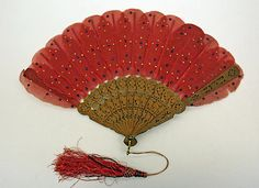 """Jenny Lind"" fan, circa 1860"