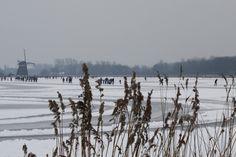genieten op het ijs van de Rotte.