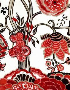 Poppy indienne print - textile design by Luli Sanchez