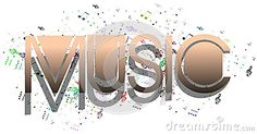 An abstract illustration representing the word music. A idea to talk about music