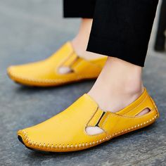 Men Leather Driving Shoes Plus Size 45 46 47 Casual Slip-on Summer Shoes 5 Colors Size Price: & Flat Rate Shipping Leather Men, Leather Shoes, Casual Shoes, Men Casual, Driving Shoes, Summer Shoes, Slippers, Slip On, Plus Size
