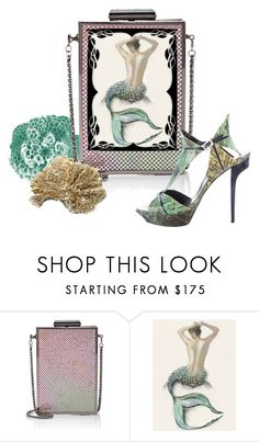 """""""Mermaid Purse"""" by metter1 ❤ liked on Polyvore featuring Barneys New York, Roger Vivier and beahandbagdesigner"""