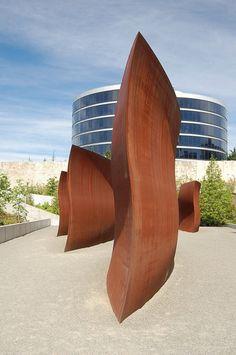 Wake by Richard Serra at Olympic Sculpture Park Seattle Art Museum