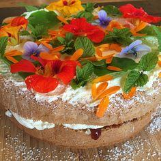 Jam & cream sponge with a garden on top!