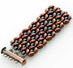 Free SuperDuo Bracelet Tutorial From Eureka Crystal Beads featured in Bead-Patterns.com Newsletter!