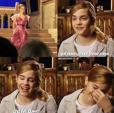 Emma Watson on Filming Harry Potter And The Goblet Of Fire Yule Ball Scene ❤