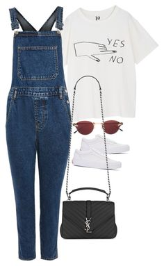 """""""Sem título #1577"""" by oh-its-anna ❤ liked on Polyvore featuring Topshop, Matsuda, Vans and Yves Saint Laurent"""