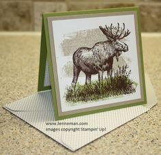 Walk In The Wild Moose Mini Card- Dena Lenneman, Stampin' Up! Demonstrator