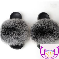 Jon Goods store-1   Wish Fur Sliders, Fluffy Slides, Cute Slippers, Ladies Party, Fox Fur, Womens Slippers, Fur Coat, Color, Plush