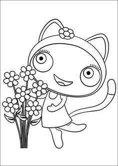 Waybuloo Fargelegging for barn. Tegninger for utskrift og fargelegging nº 9