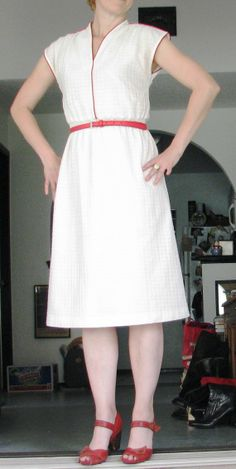 70s Does 40s (my favorite crossover era) summer dress.