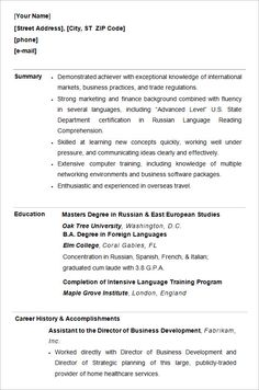 Resume Samples For Students - http://www.resumecareer.info/resume ...